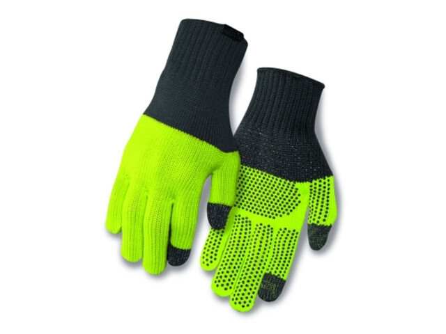 Giro Merino Wool Gloves grey/wild lime
